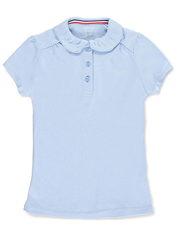 French Toast Little Girls' S/S Peter Pan Collar Polo (Sizes 4 – 6X) - CookiesKids.com
