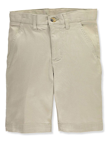 French Toast Big Boys' Flat Front Stretch Twill Shorts (Sizes 8 – 20) - CookiesKids.com