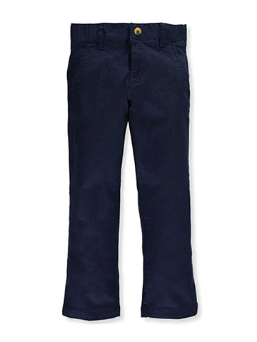 French Toast Big Girls' Plus Twill Straight Leg Pants (Sizes 10.5 – 20.5) - CookiesKids.com
