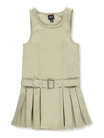 French Toast Little Girls' Buckle Belt Pleated Jumper (Sizes 4 – 6X) - CookiesKids.com