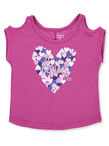 French Toast Baby Girls' Cold Shoulder Top - CookiesKids.com