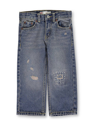 "Levi's Baby Boys' ""Cross-Stitched"" Classic Jeans - CookiesKids.com"