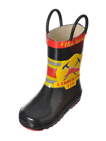 "Lilly Boys' ""Ladder 110"" Rain Boots (Toddler Sizes 5 – 12) - CookiesKids.com"