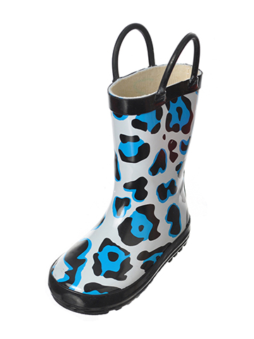 "Lilly Girls' ""Strom Leopard"" Rain Boots (Toddler Sizes 5 – 12) - CookiesKids.com"