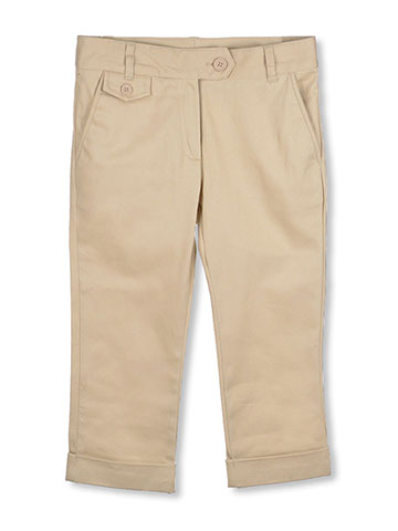 Nautica Little Girls' Flat Front Stretch Capri Pants (Sizes 4 - 6X) - CookiesKids.com