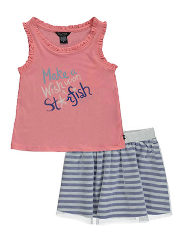 "Nautica Little Girls' ""Wish upon a Starfish"" 2-Piece Outfit (Sizes 4 – 6X) - CookiesKids.com"