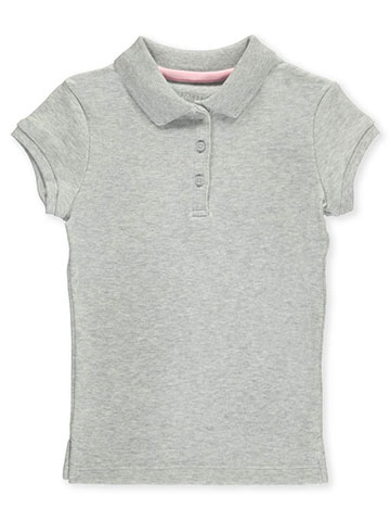 Nautica Little Girls' Knit Polo with Picot Collar (Sizes 4 – 6X) - CookiesKids.com
