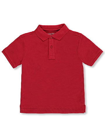 Nautica Little Boys' S/S Poly Mesh Polo (Sizes 4 – 7) - CookiesKids.com