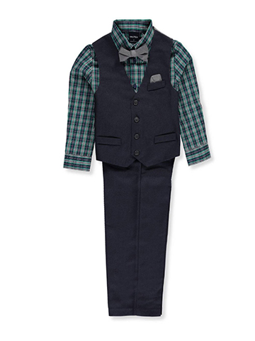 Nautica Little Boys' 4-Piece Vest Set (Sizes 4 – 7) - CookiesKids.com