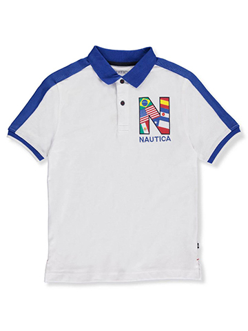 Nautica Big Boys' Pique Polo (Sizes 8 – 20) - CookiesKids.com