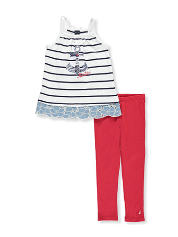 Nautica Girls' 2-Piece Pants Set Outfit - CookiesKids.com