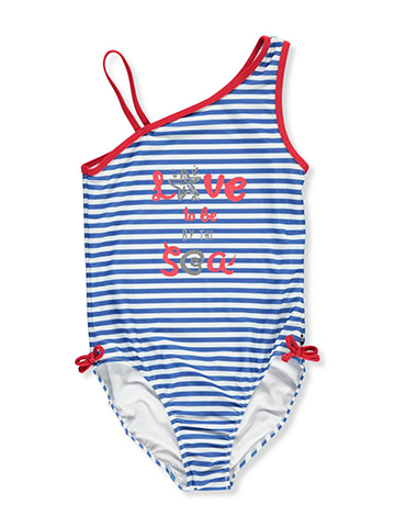 Nautica Girls' 1-Piece Swimsuit - CookiesKids.com