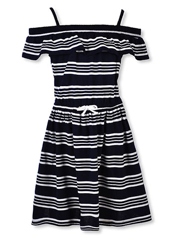 Nautica Girls' Cold Shoulder Dress - CookiesKids.com