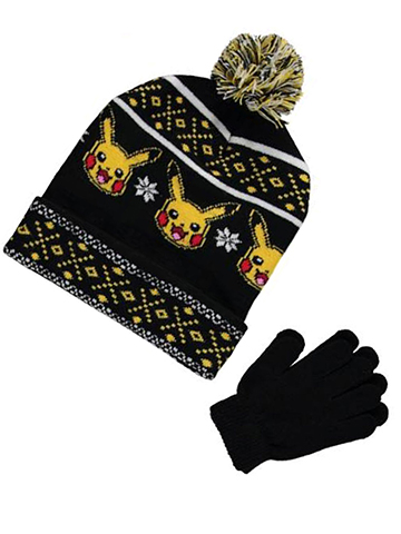 "Pokemon ""Digitized Smiles"" Beanie & Gloves Set - CookiesKids.com"