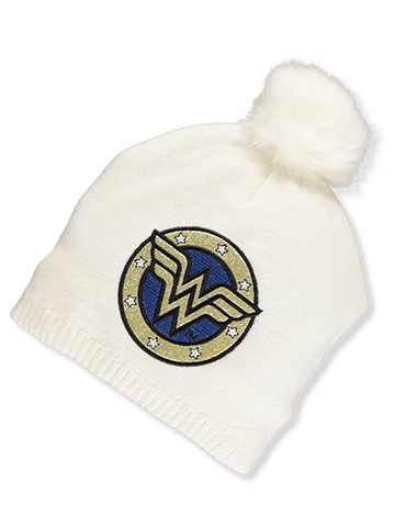 Wonder Woman Girls' Knit Beanie (Youth One Size) - CookiesKids.com