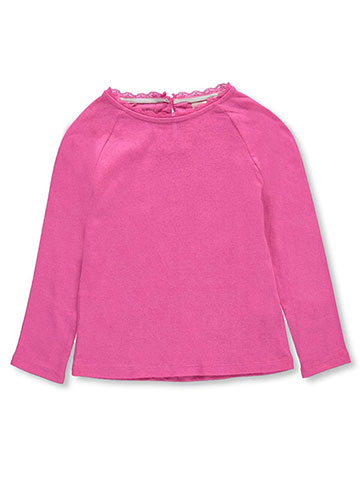 "OshKosh Little Girls' Toddler ""Pointelle Peak"" L/S Top (Sizes 2T – 5T) - CookiesKids.com"