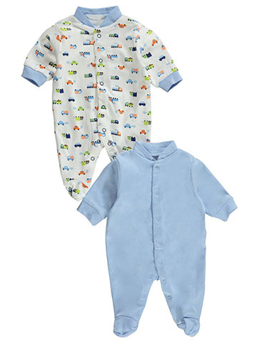 "Big Oshi Baby Boys' ""Cars Go"" 2-Pack Sleep Suits - CookiesKids.com"