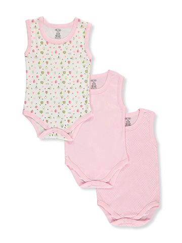 "Big Oshi Baby Girls' ""Sweet Leaf"" 3-Pack Bodysuits - CookiesKids.com"
