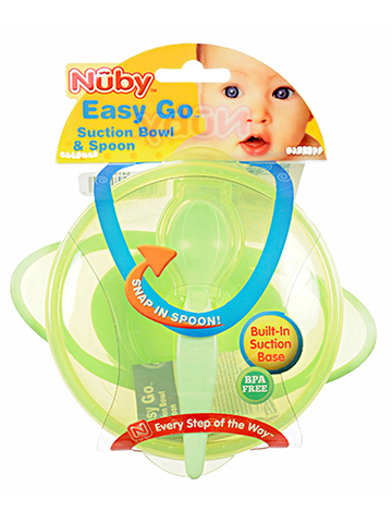 Nuby Easy Go Suction Bowl with Spoon - CookiesKids.com