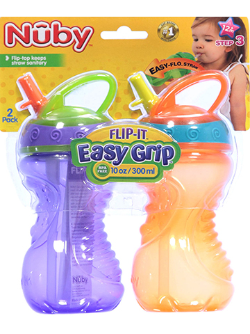 Nuby Flip-It Sippers 2-Pack (10 oz.) - CookiesKids.com