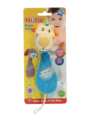 "Nuby Pacifinder ""Ribbon Cub"" Pacifier Clip - CookiesKids.com"