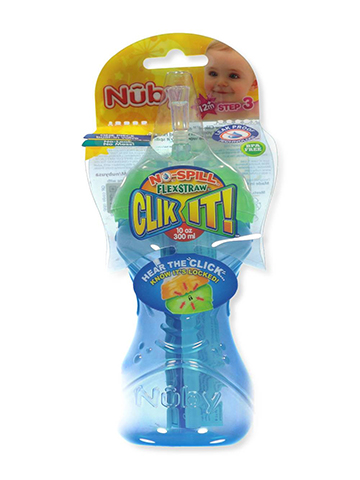 Nuby Clik It! FlexStraw Sipper (10 oz.) - CookiesKids.com