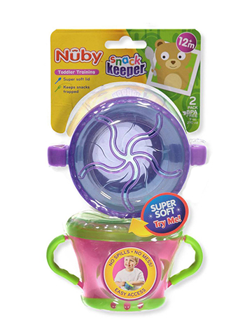 Nuby 2-Pack Snack Keeper - CookiesKids.com