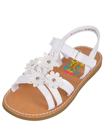 Rachel Girls' Alysse Sandals (Sizes 6 – 12) - CookiesKids.com