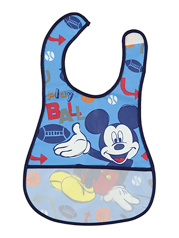 "Disney ""Sporty Mickey Mouse"" Deluxe Bib - CookiesKids.com"