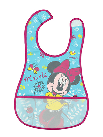 "Disney ""Minnie Mouse Sketch"" Deluxe Bib - CookiesKids.com"