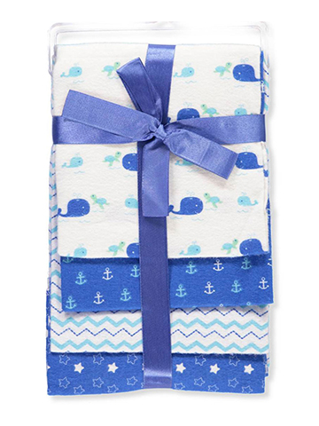 Cribmates 4-Pack Flannel Receiving Blankets - CookiesKids.com