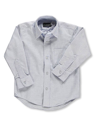 Kaynee Little Boys' L/S Button-Down Shirt (Sizes 4 - 7) - CookiesKids.com