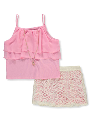 RMLA Girls' 2-Piece Outfit with Necklace - CookiesKids.com