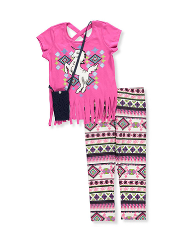 RMLA Girls' 2-Piece Pants Set Outfit with Purse - CookiesKids.com