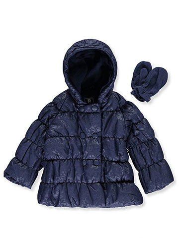 "R. 1881 Baby Girls' ""Jacquard"" Insulated Jacket with Mittens - CookiesKids.com"