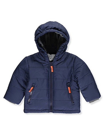 "R. 1881 Baby Boys' ""Ribbed Heather Trim"" Insulated Jacket - CookiesKids.com"