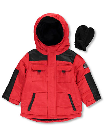 "Rothschild Baby Boys' ""Tabbed 2-Tone"" Jacket with Mittens - CookiesKids.com"