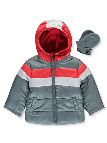 "R. 1881 Baby Boys' ""Wrapped Stripe"" Insulated Jacket with Mittens - CookiesKids.com"