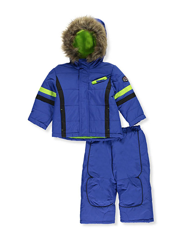 "R. 1881 Baby Boys' ""Highlighter Stripes"" 2-Piece Snowsuit - CookiesKids.com"