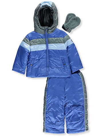 "R. 1881 Baby Boys' ""Piped Stripes"" 2-Piece Snowsuit with Mittens - CookiesKids.com"
