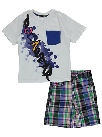 "Rocawear Little Boys' Toddler ""Drip Rag"" 2-Piece Outfit (Sizes 2T – 4T) - CookiesKids.com"