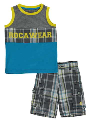 "Rocawear Little Boys' ""University Logo"" 2-Piece Outfit (Sizes 4 – 7) - CookiesKids.com"