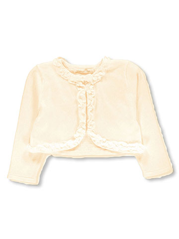 "American Princess Little Girls' ""Pearl Ruffle"" Shrug (Sizes 4 – 6X) - CookiesKids.com"