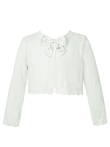 "American Princess Little Girls' Toddler ""Satin Bow"" Shrug (Sizes 2T – 4T) - CookiesKids.com"