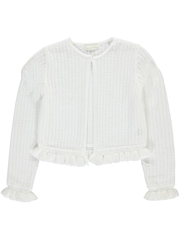 "American Princess Big Girls' ""Ruffled Knit"" Shrug (Sizes 7 – 16) - CookiesKids.com"