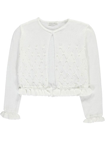 "Couture Princess Big Girls' ""Pearly Grid"" Shrug (Sizes 7 – 16) - CookiesKids.com"