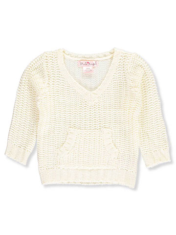 Pink Angel Baby Girls' V-Neck Sweater - CookiesKids.com