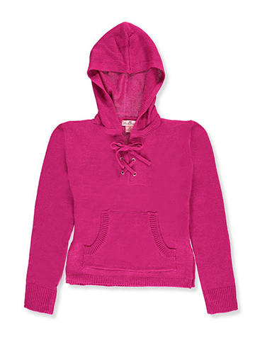 Pink Angel Big Girls' Hooded Sweater (Sizes 7 – 16) - CookiesKids.com