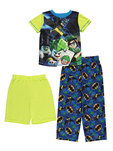 "Lego Batman Little Boys' ""Joker & Friends"" 3-Piece Pajamas (Sizes 4 – 7) - CookiesKids.com"