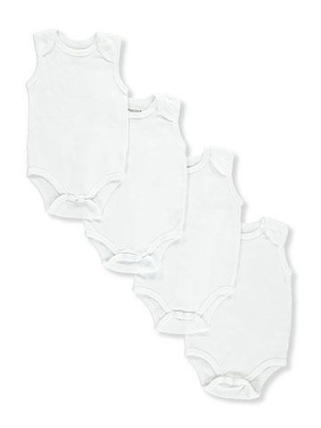 Sweet & Soft Unisex Baby 4-Pack Bodysuits - CookiesKids.com